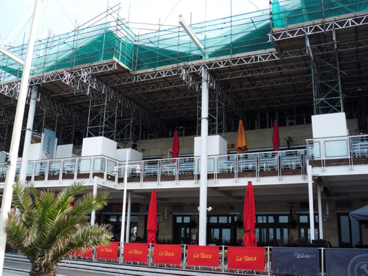 Gunwharf Quays Commercial Scaffolding Portsmouth
