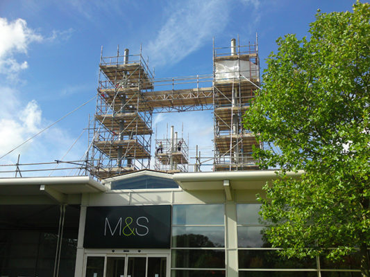 Marks And Spencer Commercial Scaffolding in Hedge End