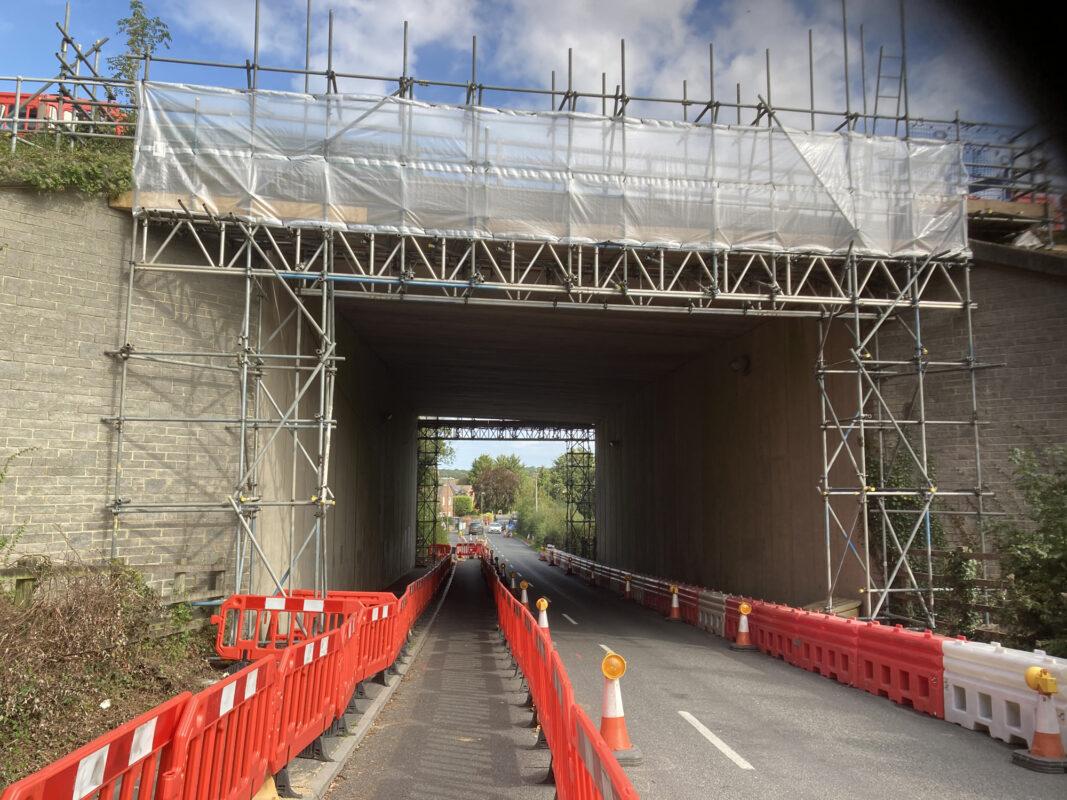 Funtley bridge M27 scaffolding